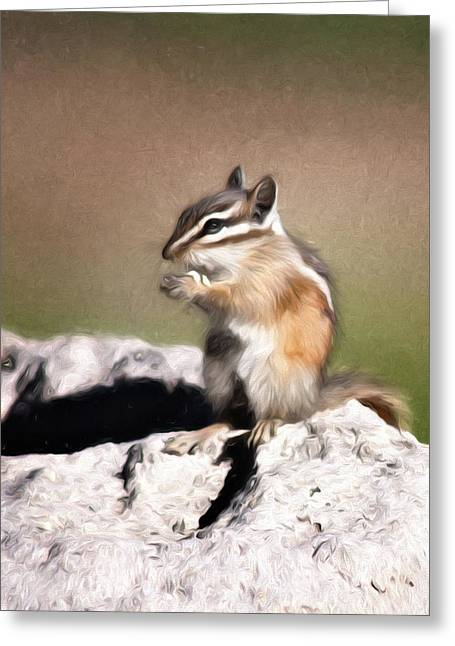 Greeting Card featuring the photograph Just A Little Nibble by Lana Trussell