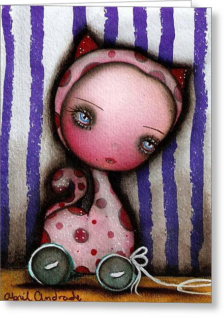Just A Toy Greeting Card by  Abril Andrade Griffith