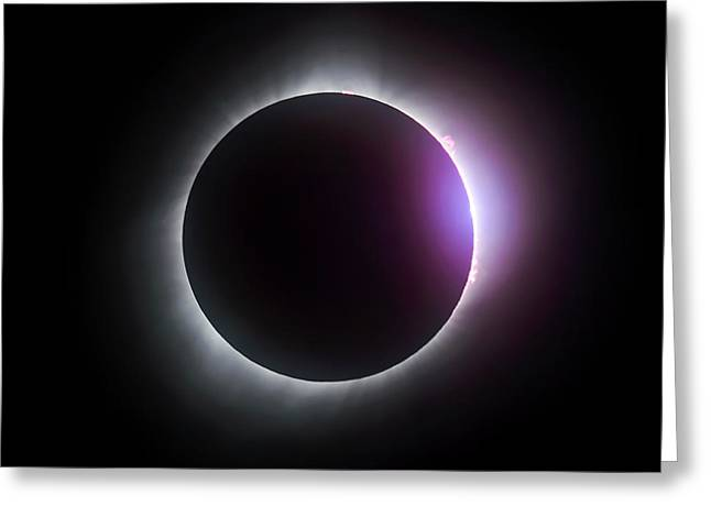 Just After Totality - Solar Eclipse August 21, 2017 Greeting Card