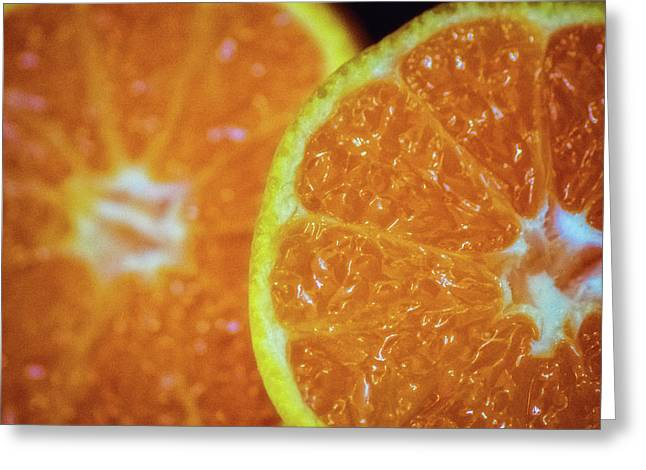 Just An Orange Greeting Card by Martin Newman