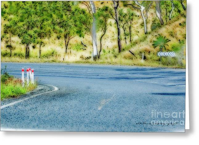 Just Another Bend In The Road Greeting Card by Vicki Ferrari Photography