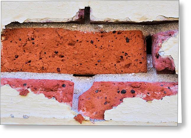 Just Another Brick In The Wall Greeting Card by Josephine Buschman