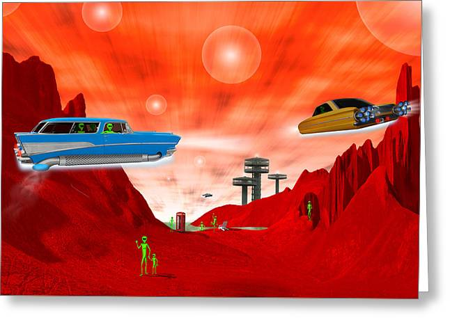 Just Another Day On The Red Planet 3 Greeting Card by Mike McGlothlen