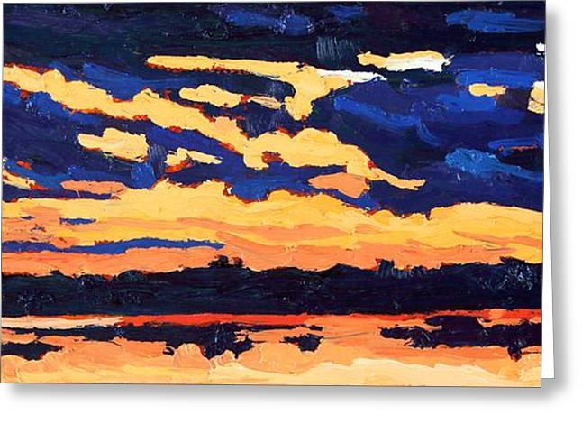 Just Another November Sunset Greeting Card by Phil Chadwick