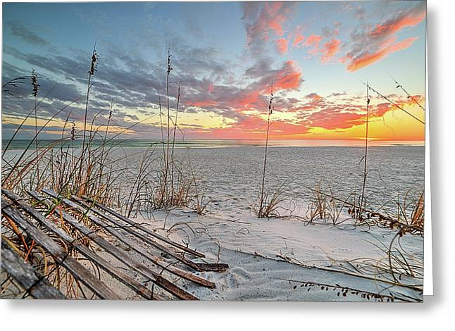 Just Another South Walton Sunset Greeting Card by JC Findley