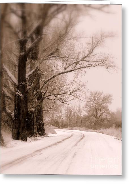Just Around The Bend  Greeting Card by Carol Groenen
