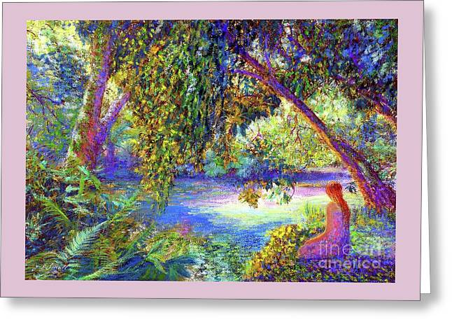Greeting Card featuring the painting Just Be by Jane Small