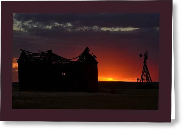 Just Before Sunrise Greeting Card by Clarice  Lakota
