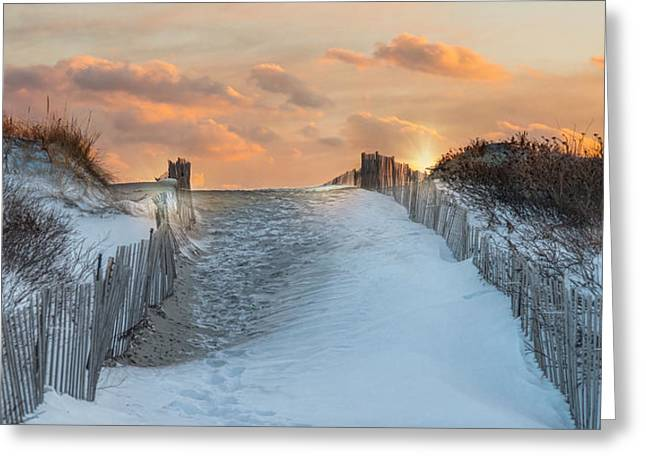 Greeting Card featuring the photograph Just Beyond by Robin-lee Vieira