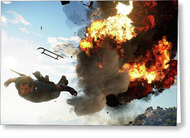 Just Cause 3                    Greeting Card by F S