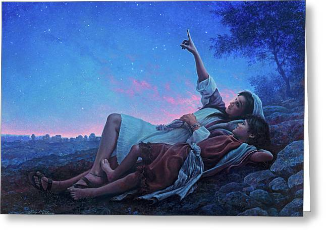 Just For A Moment Greeting Card by Greg Olsen