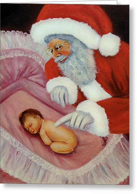 Just In Time For Christmas Greeting Card by Joni McPherson