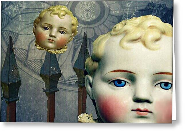 Greeting Card featuring the digital art Just Like A Doll by Delight Worthyn