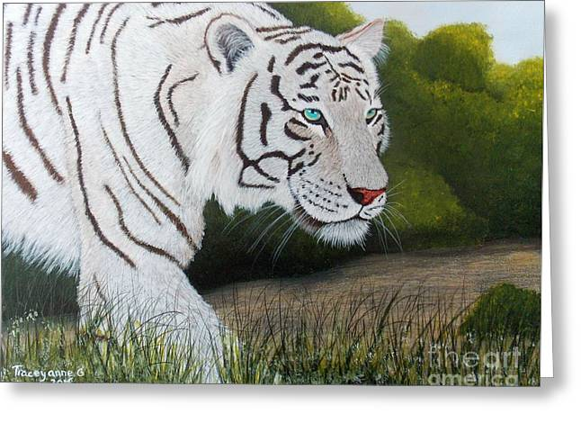 Greeting Card featuring the painting Just Looking by Tracey Goodwin