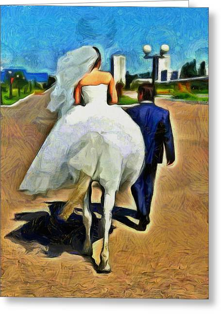 Just Married - Pa Greeting Card by Leonardo Digenio