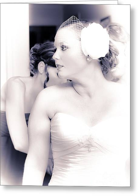 Just Moments Before Walking Down The Aisle Greeting Card by Jorgo Photography - Wall Art Gallery