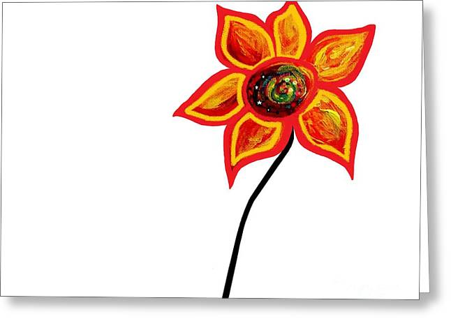 Just One Abstract Flower Greeting Card