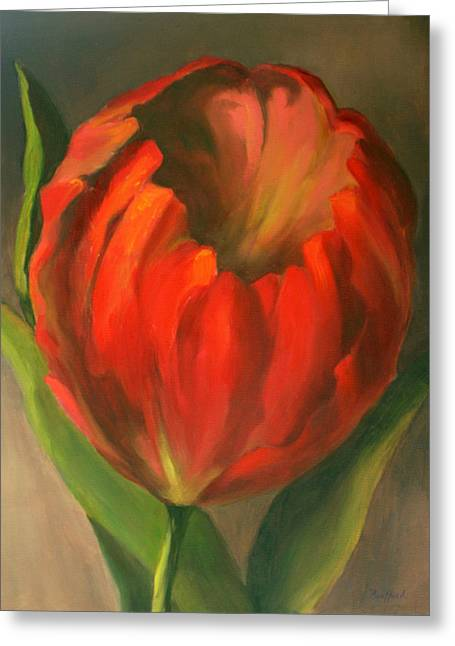 Just One Red Tulip Greeting Card