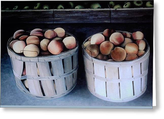 Just Peachy Greeting Card by Charles Hill