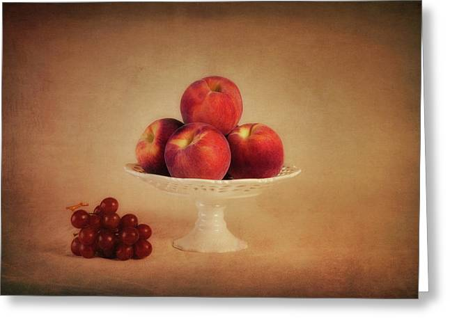 Just Peachy Greeting Card by Tom Mc Nemar