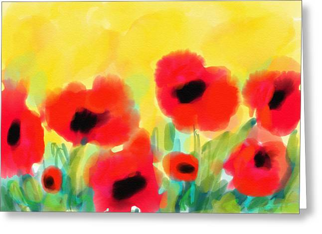 Just Poppies Greeting Card
