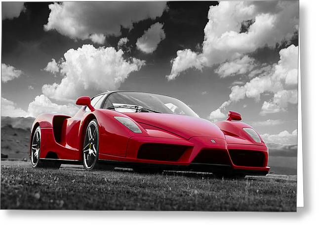 Just Red 1 2002 Enzo Ferrari Greeting Card
