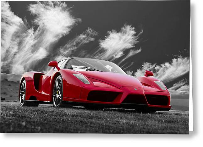 Just Red 2 2002 Enzo Ferrari Greeting Card