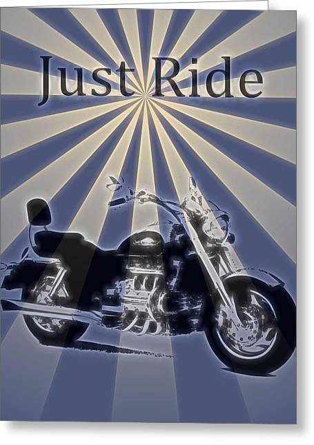 Just Ride Electric Poster Greeting Card