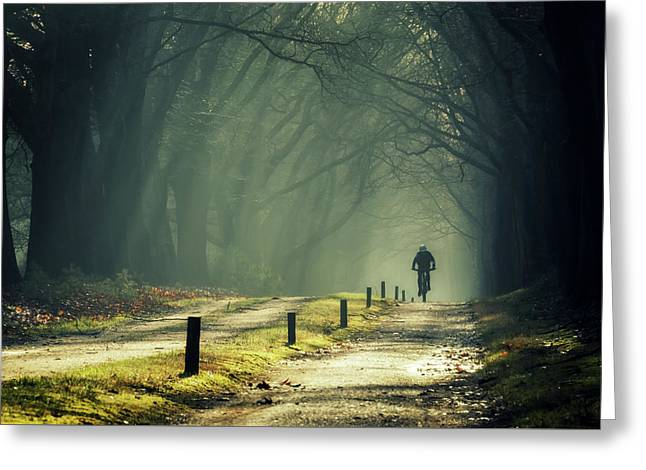 Just Some Biking... Greeting Card by Martin Podt