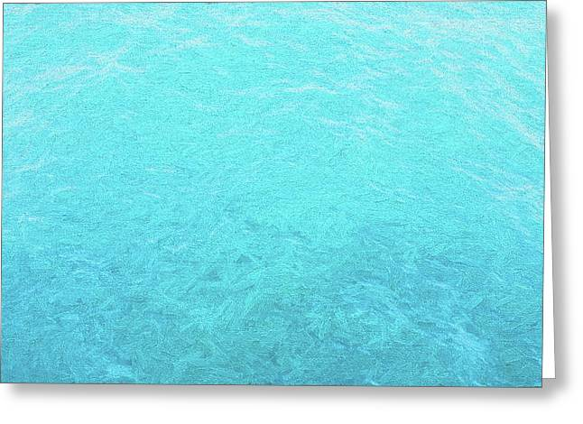 Just Teal Greeting Card by JC Findley