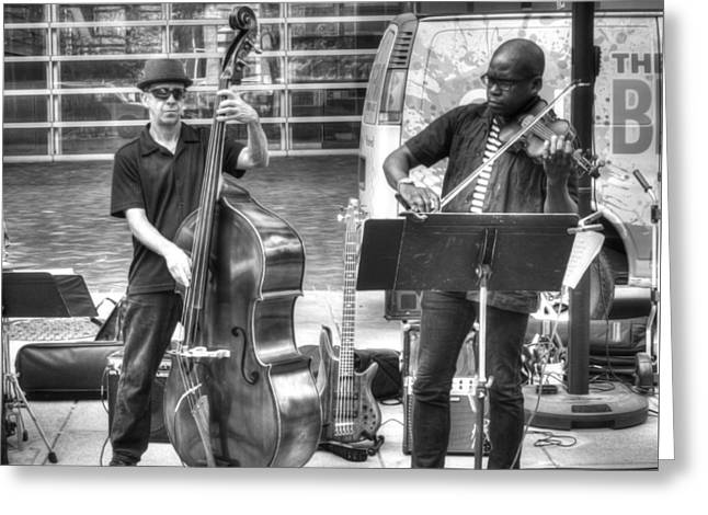 Greeting Card featuring the photograph Just The Strings by Michael Colgate