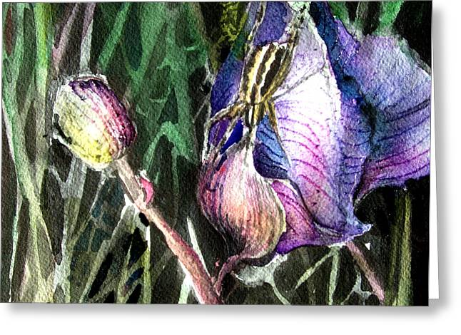 Just Visiting Greeting Card by Mindy Newman