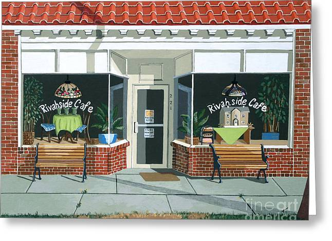 Just Walk In Greeting Card by Jennifer  Donald