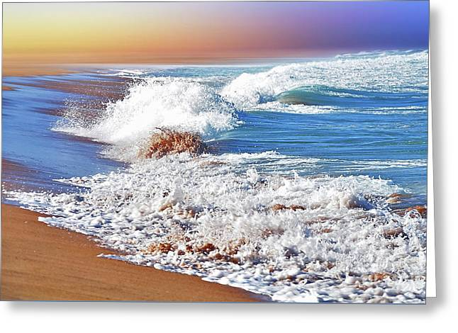 Just Waves By Kaye Menner Greeting Card by Kaye Menner