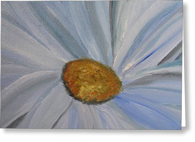 Greeting Card featuring the painting Just When by Trilby Cole