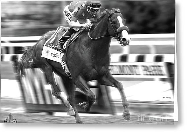 Justify, Belmont Stakes, Triple Crown, 2018 Greeting Card
