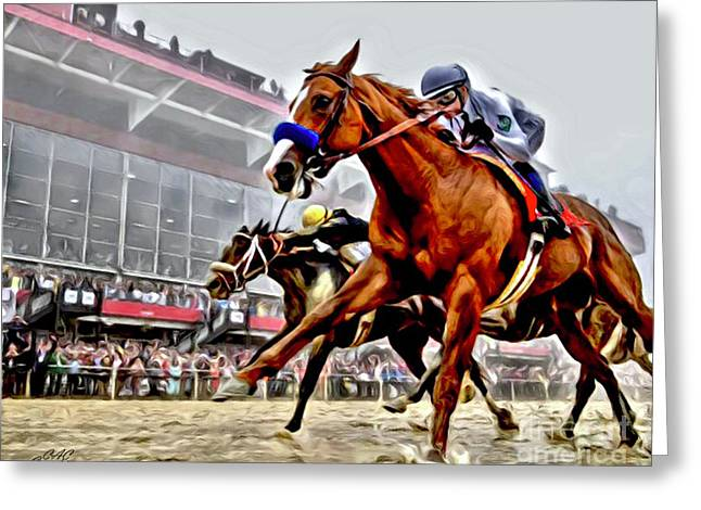 Justify Wins Preakness Greeting Card