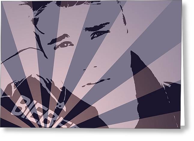 Justin Bieber Pop Art Poster Greeting Card