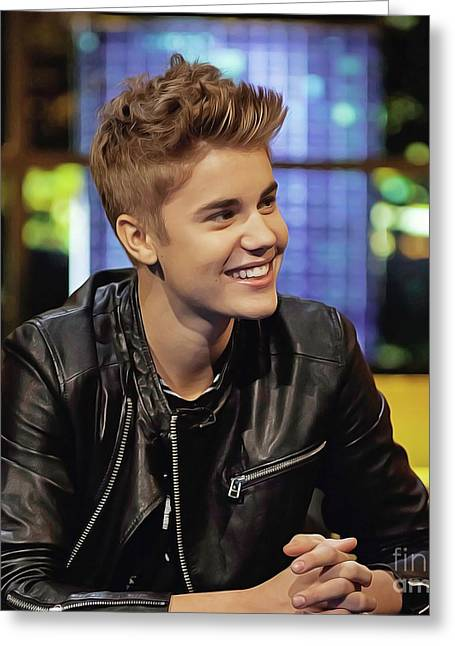 Justin Bieber Greeting Card by Twinkle Mehta