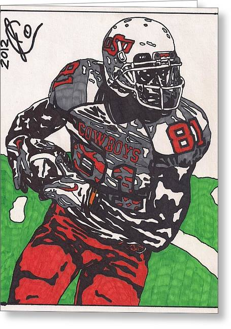 Justin Blackmon 2 Greeting Card by Jeremiah Colley