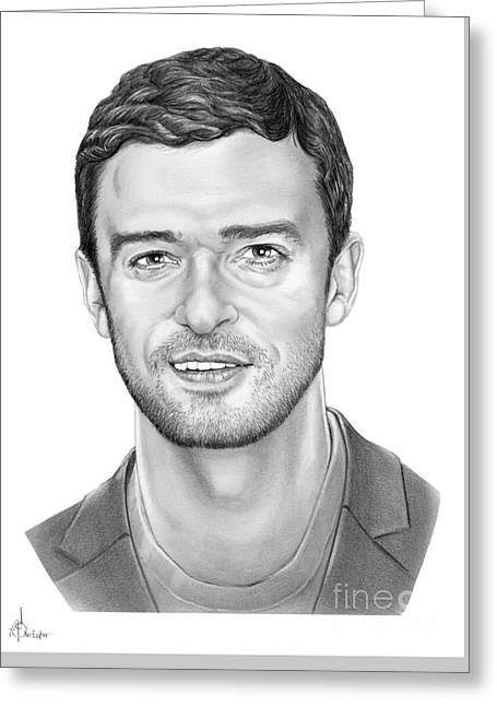 Justin Timberlake Greeting Card by Murphy Elliott