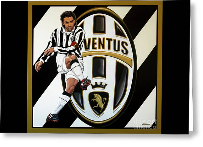 Juventus Fc Turin Painting Greeting Card by Paul Meijering