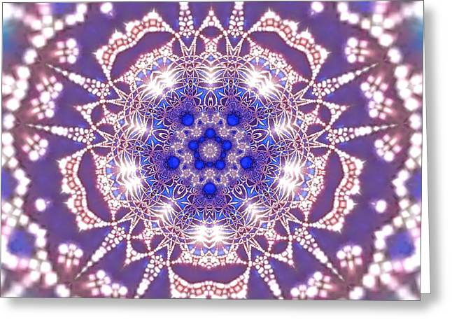 Greeting Card featuring the digital art Jyoti Ahau 22 by Robert Thalmeier