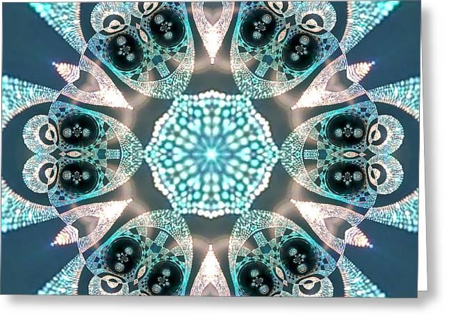 Greeting Card featuring the digital art Jyoti Ahau 59 by Robert Thalmeier