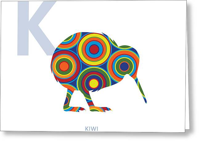 K Is For Kiwi Greeting Card