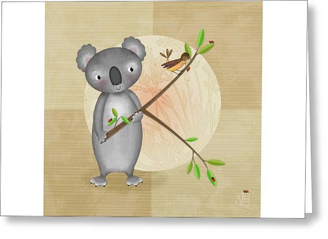 K Is For Koala Greeting Card