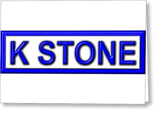 K Stone Greeting Card