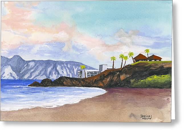 Greeting Card featuring the painting Kaanapali Beach by Darice Machel McGuire