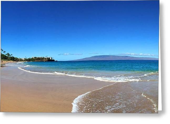 Kaanapali Beach In Maui Hawaii Greeting Card by Stacia Blase