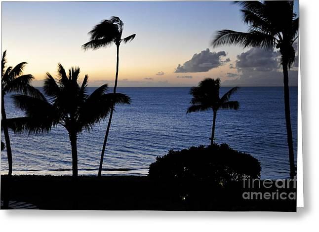 Ka'anapali Beach Maui Greeting Card by Rosy Kueng